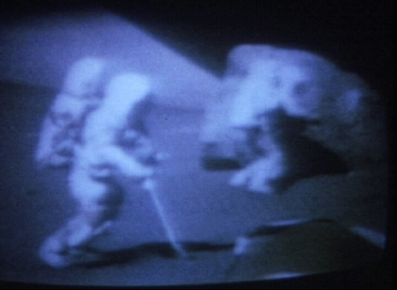Apollo à la TV de Henri Sergent, 1972, 8mm, couleur, sonore