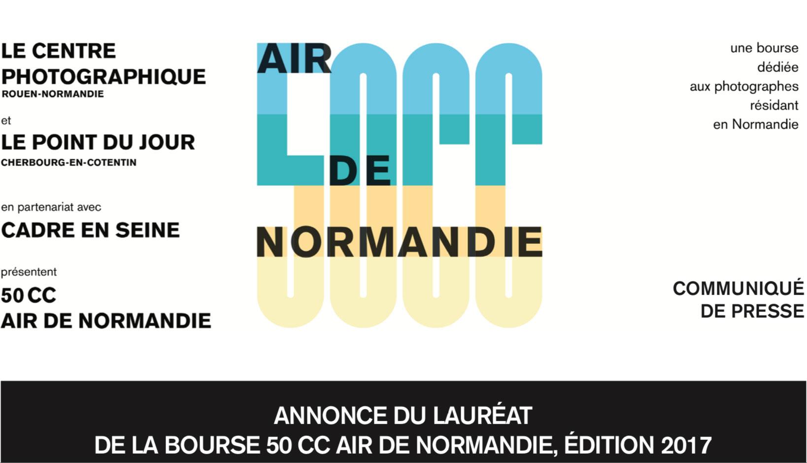 Annonce du Lauréat de la Bourse 50CC, Air de Normandie, Édition 2017