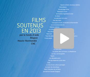 Présentation des films soutenus en 2013 par le Fonds d'aide Région Haute-Normandie/CNC
